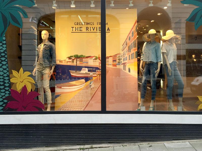 Schaufenstergestaltung Modeboutique 1